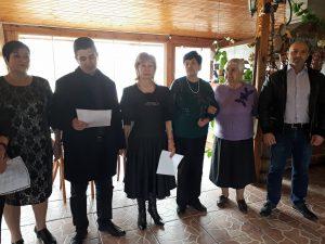 поздрав за дамите от пенсионерския клуб в жк Изгрев